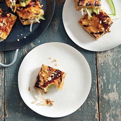 Easy Indonesian grilled crispy tofu appetizer.