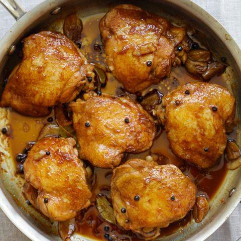 Chicken adobo.