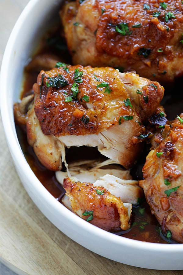 Honey garlic chicken is one of the best Instant Pot chicken recipes.
