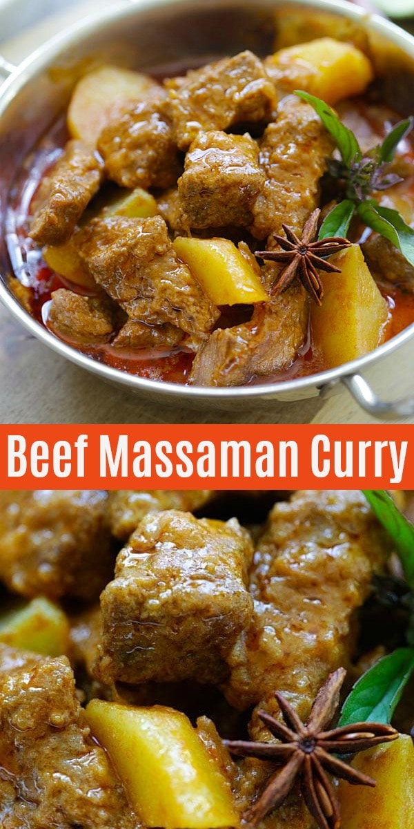 Massaman Curry Beef In Creamy Curry Sauce Rasa Malaysia