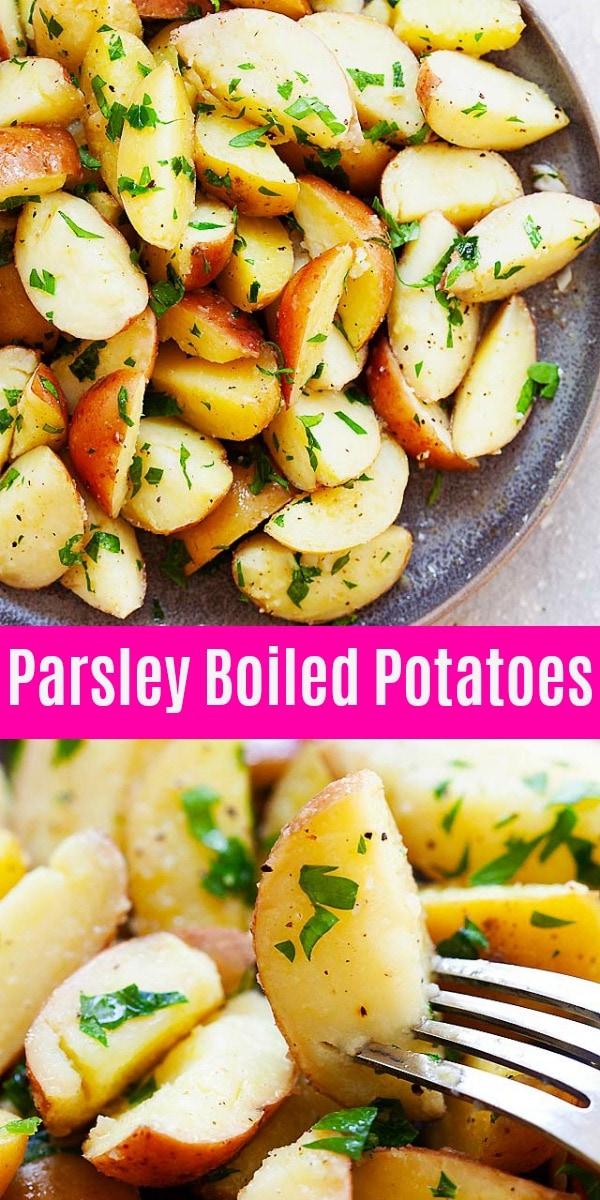 Boiled Potatoes With Parsley 5 Minutes Prep Time Rasa Malaysia