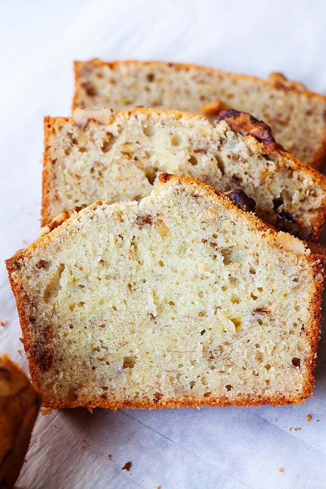 Super moist banana nut bread.